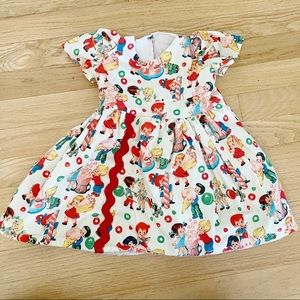 Baby Girl Dress Vintage Pattern Frilly Puffy